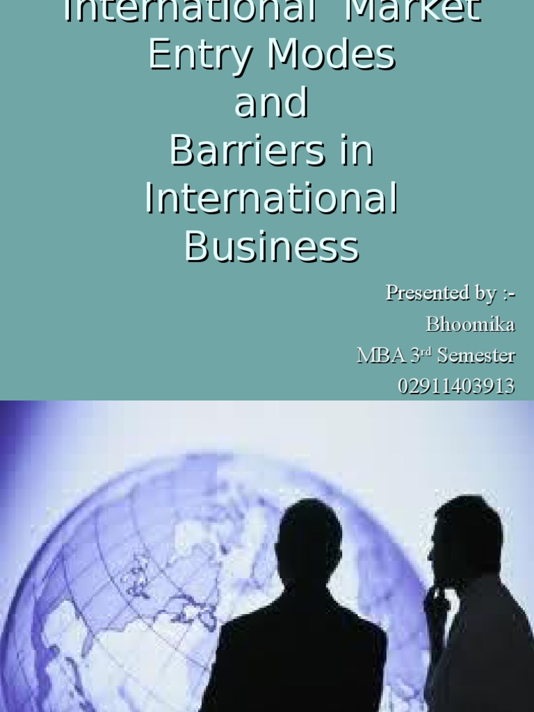 modes of entering international business