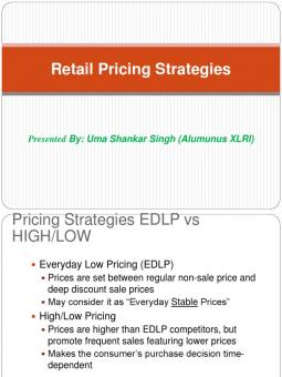 superior supermarket everyday low pricing strategy essay Superior supermarkets superior supermarkets - everyday low pricing factual summary • company profile superior supermarkets started in 1959 and it is a division of hall consolidated, a privately owned wholesale and retail food distributor.