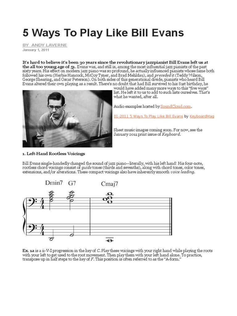 bill evanss effects on modern jazz essay Wir bitten um ihr verständnis und wollen uns sicher sein dass sie kein bot sind für beste resultate, verwenden sie bitte einen browser der cookies akzeptiert.
