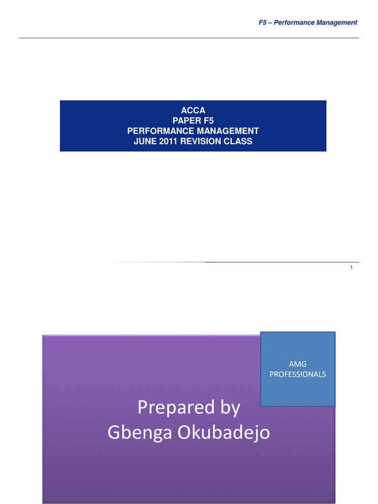 performance management paper