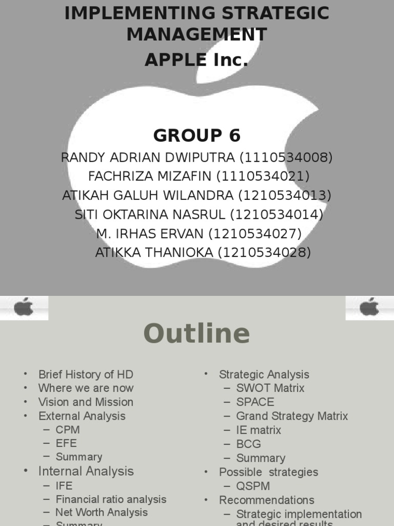 strategic project managment apple case study