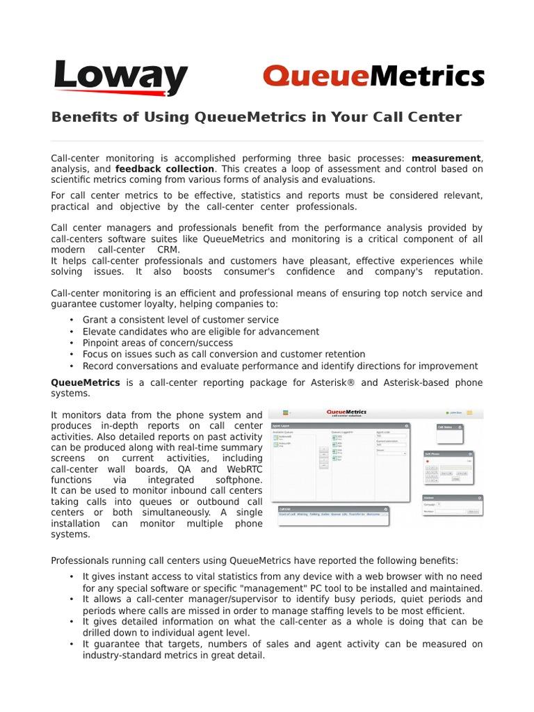 Benefits Of Using Asterisk Call Center Monitor Queuemetrics