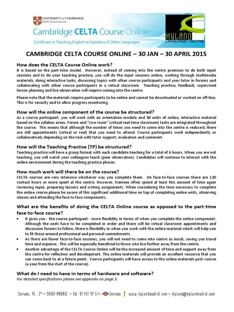 Download Celta Online Course Docshare
