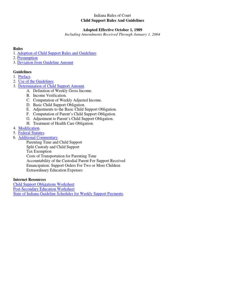 Download TN Child Support Guidelines DocSharetips – Child Support Obligation Worksheet
