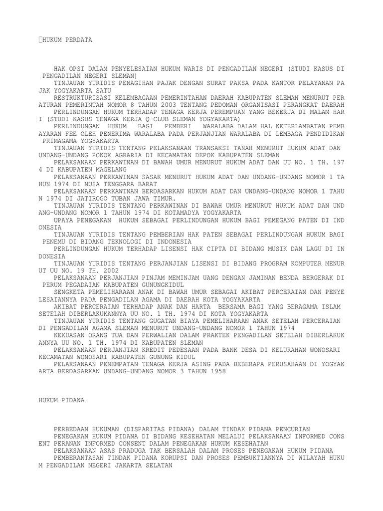 Download Contoh Skripsi Hukum Pidana Korupsi Docshare Tips