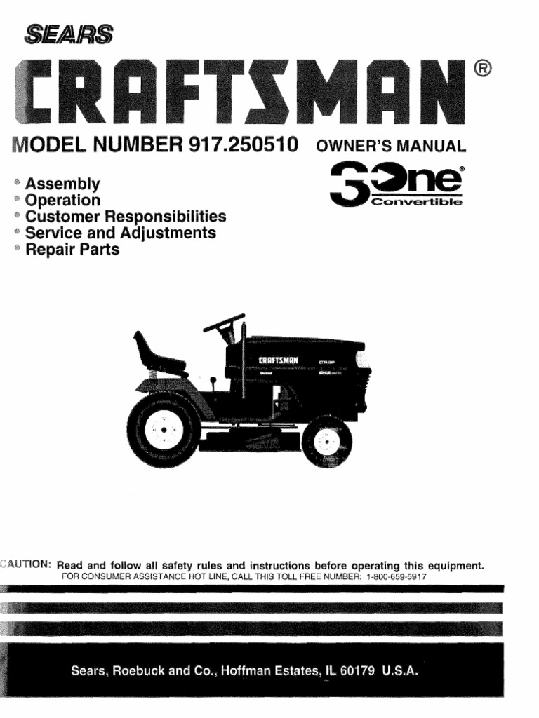 Download Craftsman Garden Tractor 917276020 Owners Manual Gt 5000 Wiring Diagram 6000 Lawn