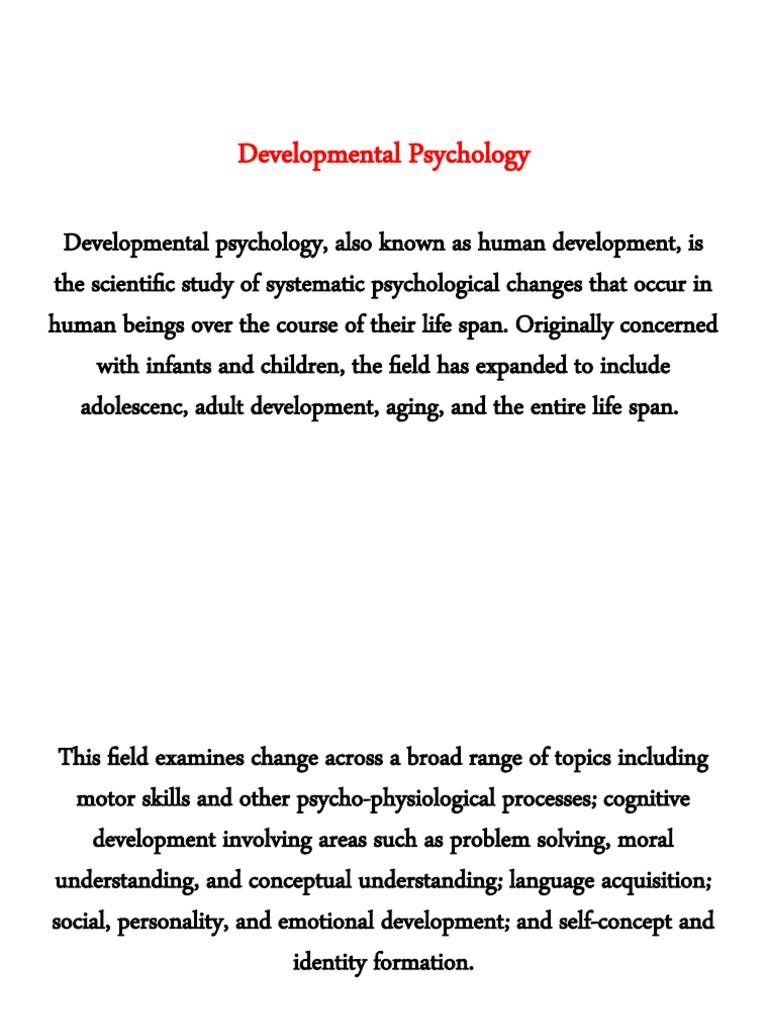 psychology lifespan development essay