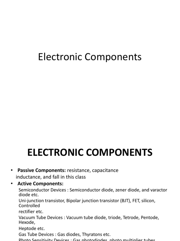 Download Understanding Electronic Components - DocShare.tips