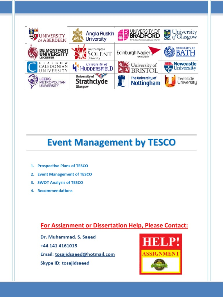 event management thesis