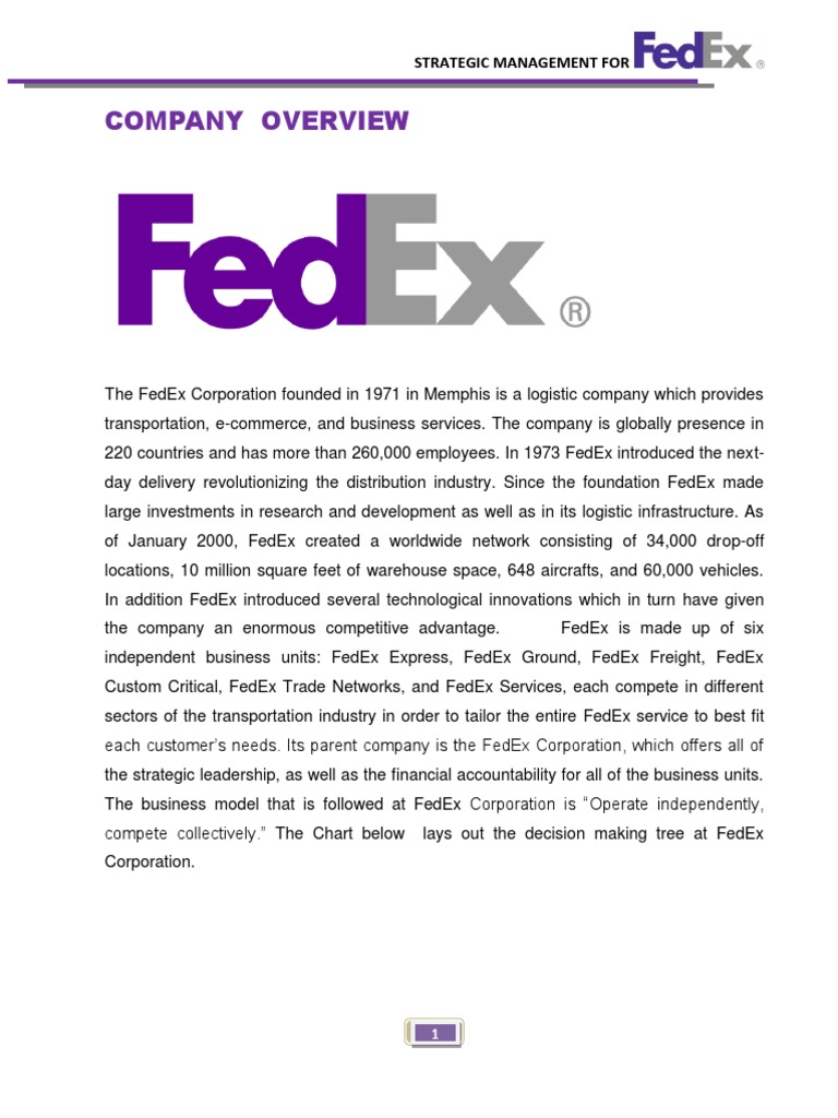 an introduction to the history of fedex