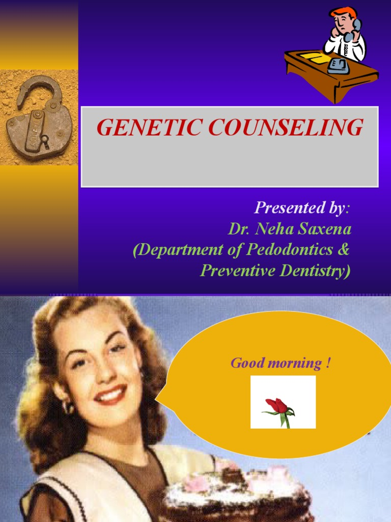 genetic counseling Genetic counseling is an assessment of a person or couple's risk factors for a particular genetic disorder/disease to determine a patient's risk, counselors assess family history, personal medical history, and pregnancy history of women.
