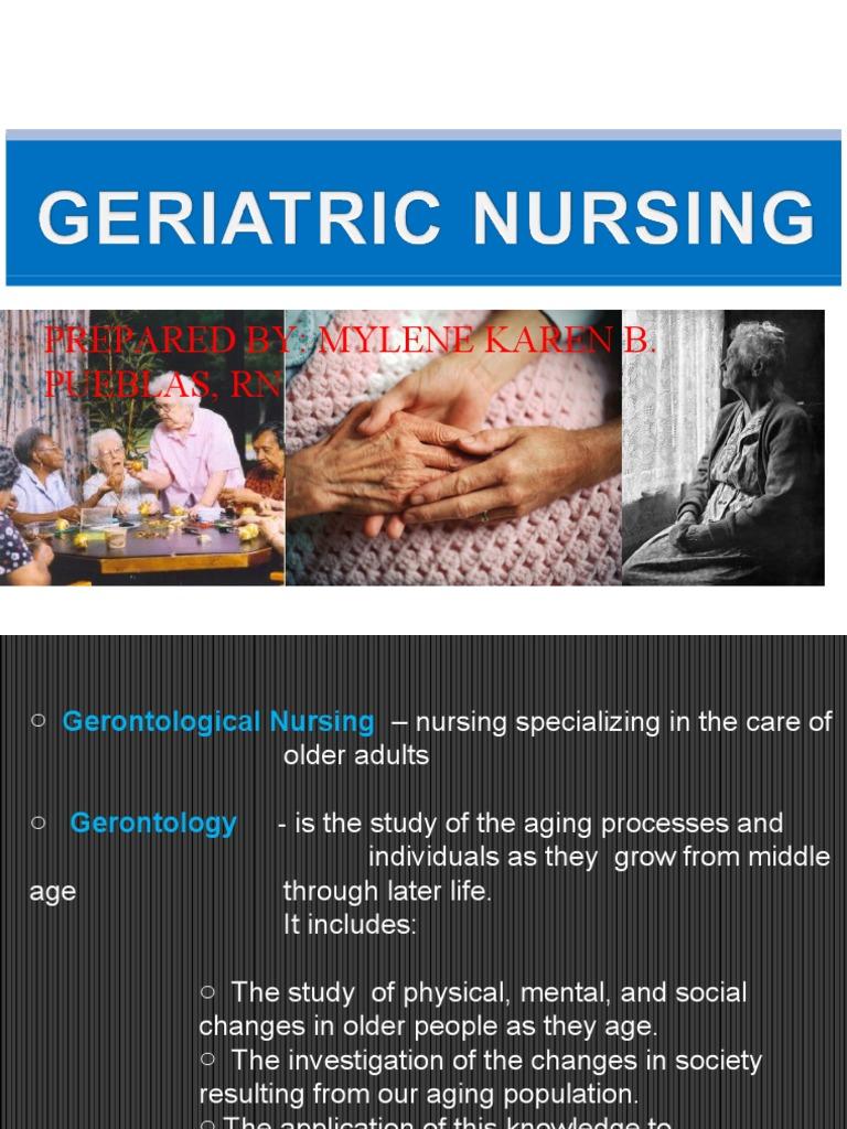 geriatic nursing paper