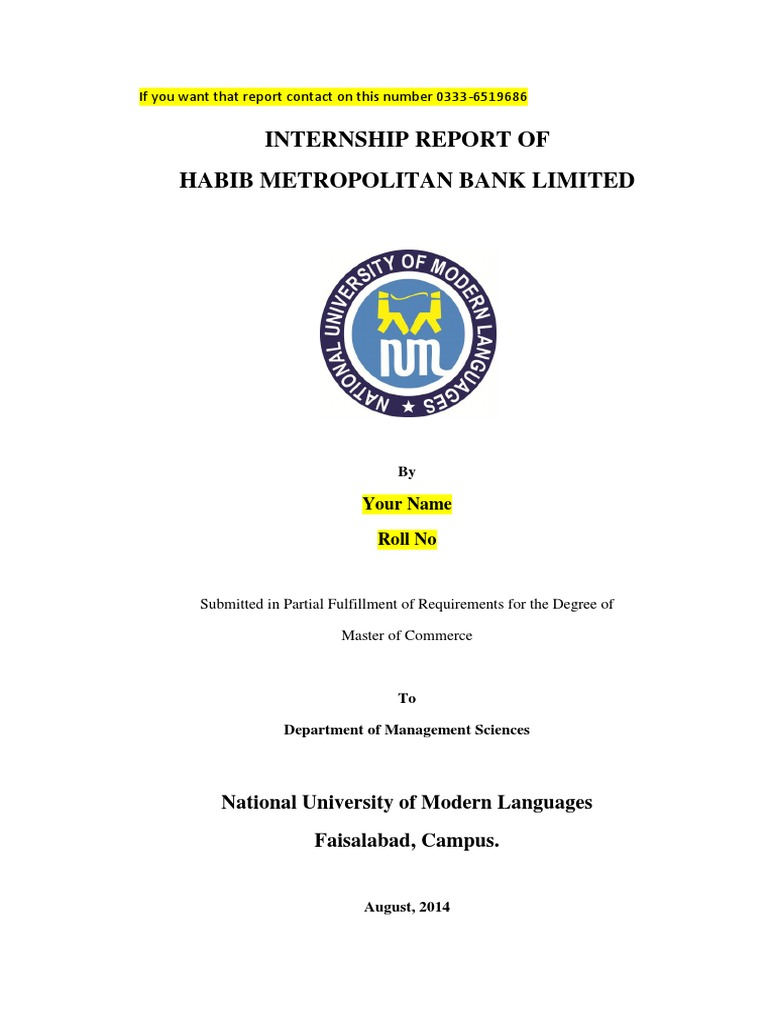 intership report on national bank limited 1national bank of pakistan intership report onnbp by mirza ihsanullah #306-3332407 mcom (finance) government college university fsd bed(2012) mirza ihsan ullah-30633324072009.