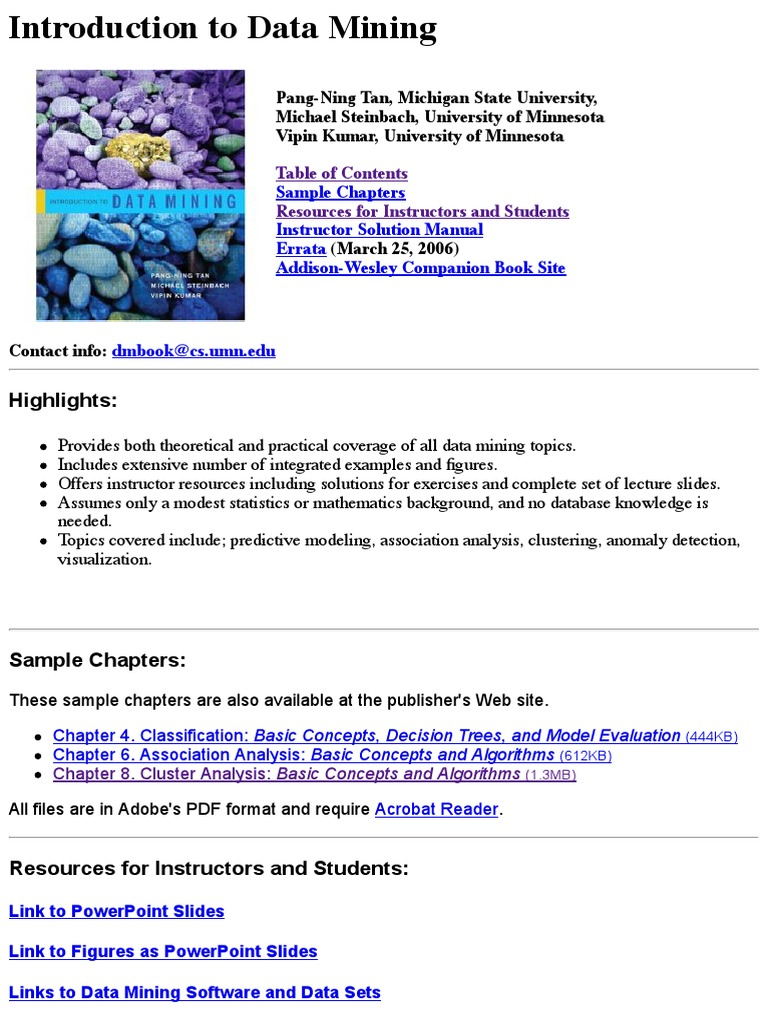 introduction to data mining with case studies ebook