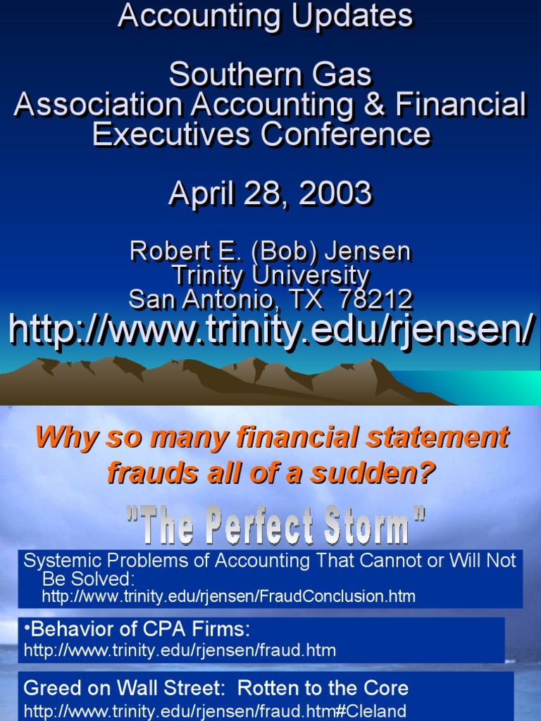 a look at accounting frauds in many organizations today Managing the business risk of fraud: new guidance for a new risk environment  chain, accounting, finance, etc) to address fraud risk management and to periodically update the board  today too many organizations are operating under the misconception.
