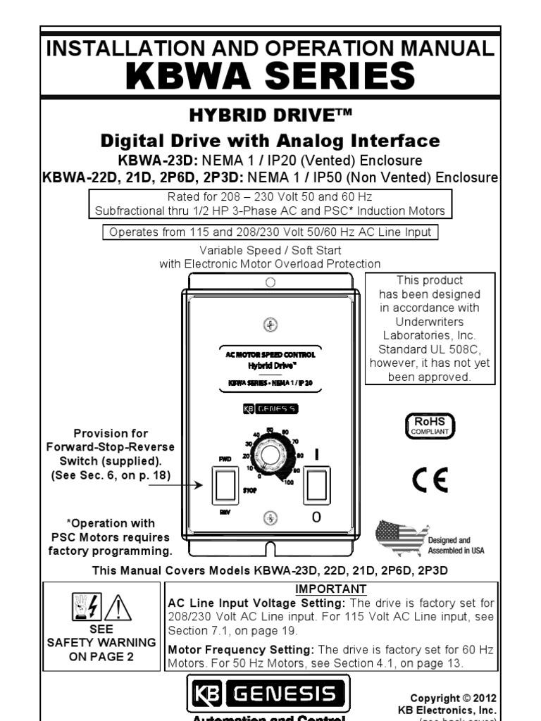 KBWA AC Drive Series Manual - DocShare tips