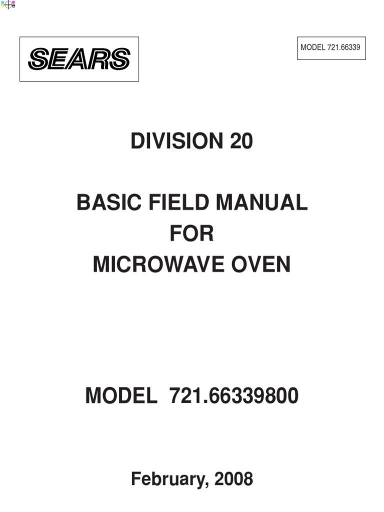 Kenmore Microwave Repair Manual Bestmicrowave