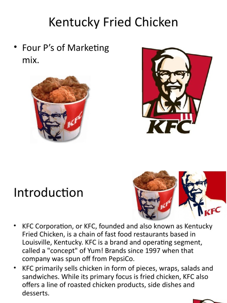 marketing mix of kfc product