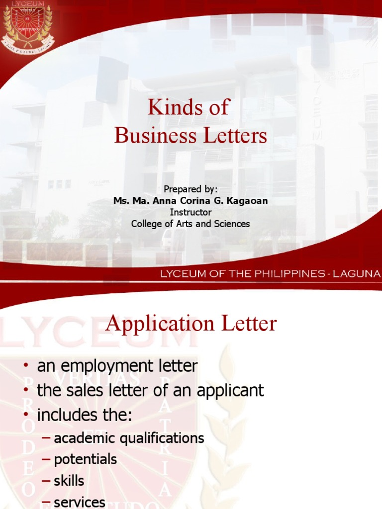 Download Types Of Business Letters Docshare Tips