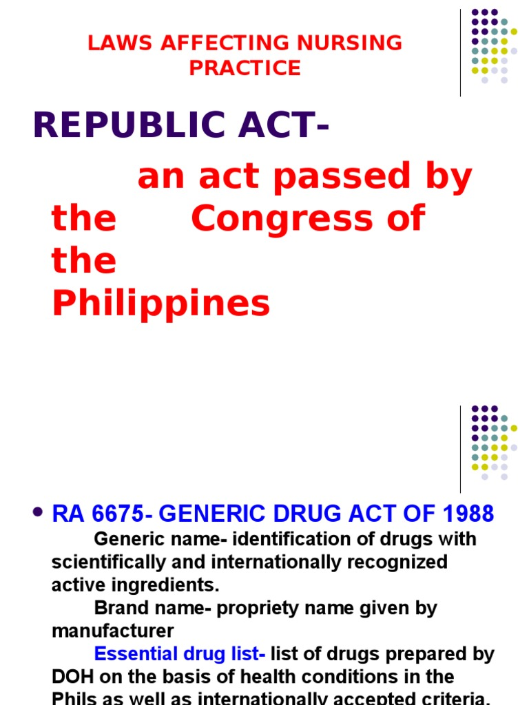 philippine nursing laws affecting confidentiality