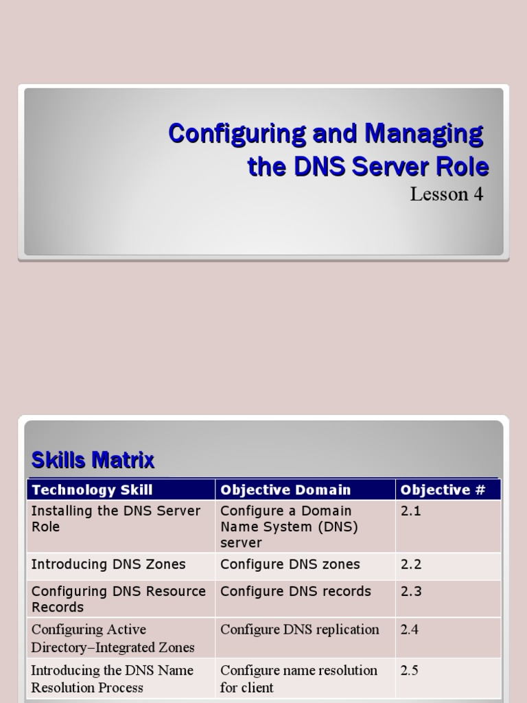 lesson04 - Config and Manage DNS Server Role - DocShare.tips