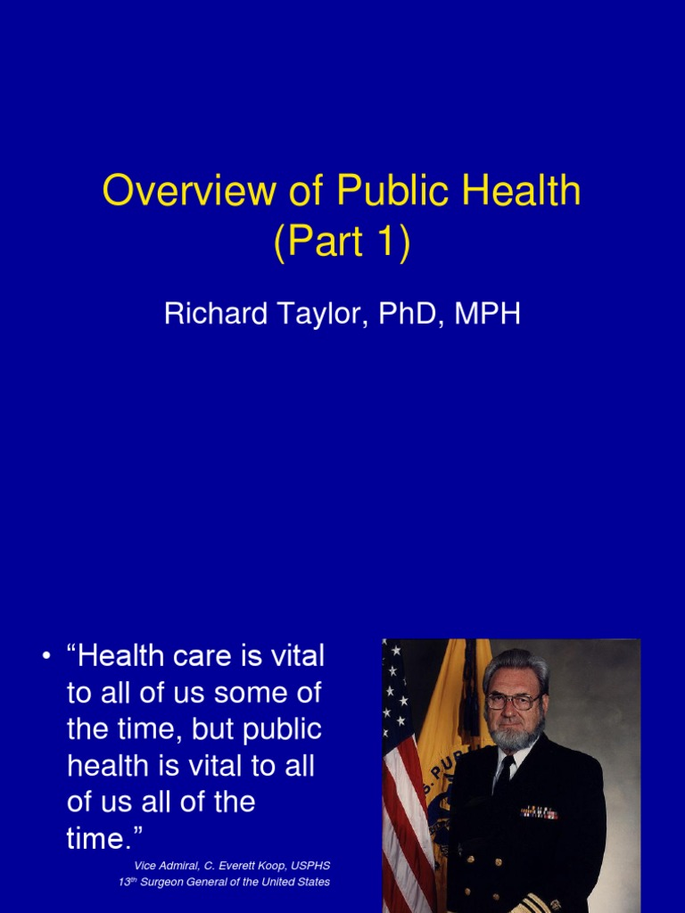 overview of public health essay