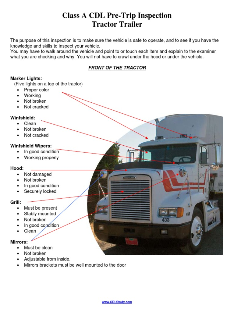Semi Tractor Trailer Helping Inspect Lights : Download trailer si cap tractor docshare tips