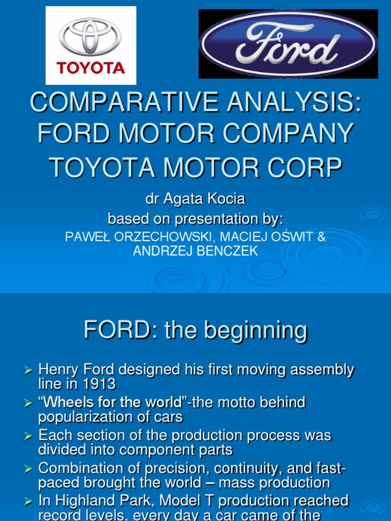 case analysis for ford motor company Case analysis ù ford motor company: supply-chain strategy by 1999, supply-chain management at ford motor company was vastly different from the supply-chain management strategy at the company a few years earlier.