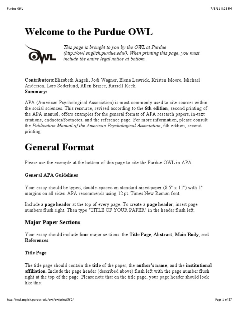 publication manual of the american psychological association download
