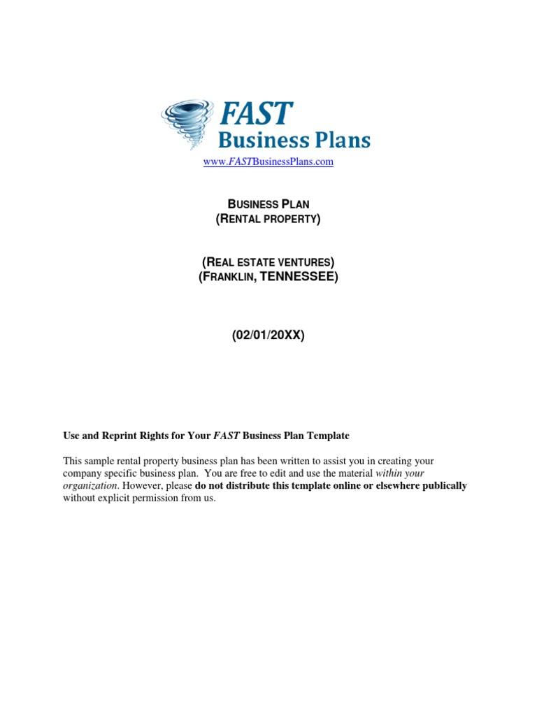 rental business plan