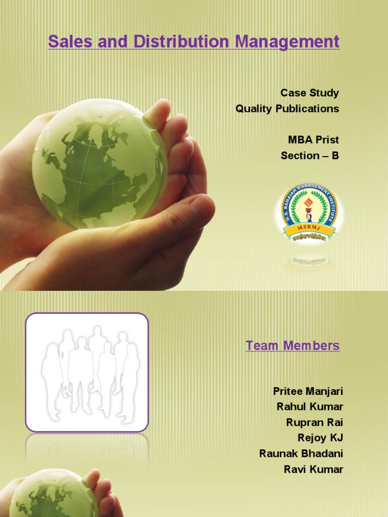 sales and distribution management pdf download
