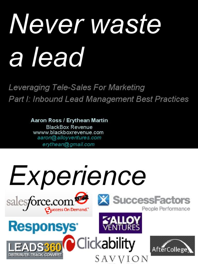 Salesforce.com Inbound Lead Management Best Practices - BlackBox ...