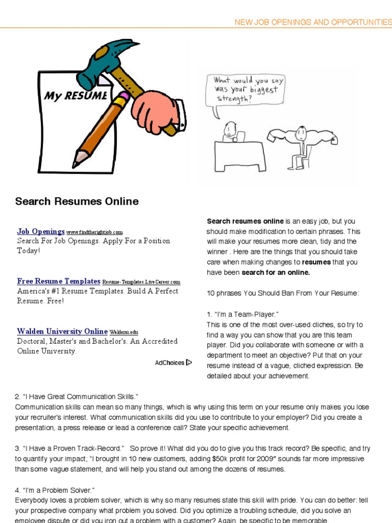 search resumes online jobstar info 20120524 docshare tips