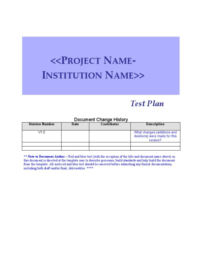 Software test plan template 849482 - hitori49.info