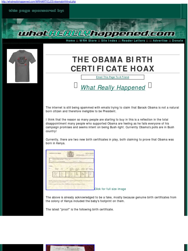 Download the birth certificate bond docshare the obama birth certificate hoax 1betcityfo Gallery