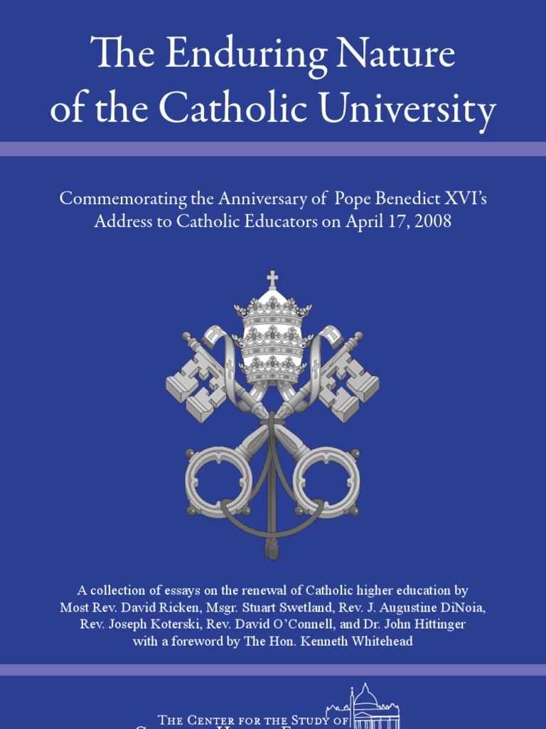 philosophy catholic education essay Philosophy of catholic education diocese of oakland thecatholicelementaryandsecondaryschoolswithinthedioceseofoaklandarethe.