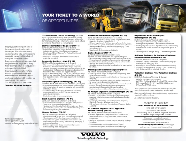 volvo technology master thesis Volvo group scholarship description four scholarships software engineering and technology available to 1st year master's programme applicants to one or several of the above listed programmes master's thesis projects and mentorship wwwvolvogroupcom deadline: 15 january 2018.