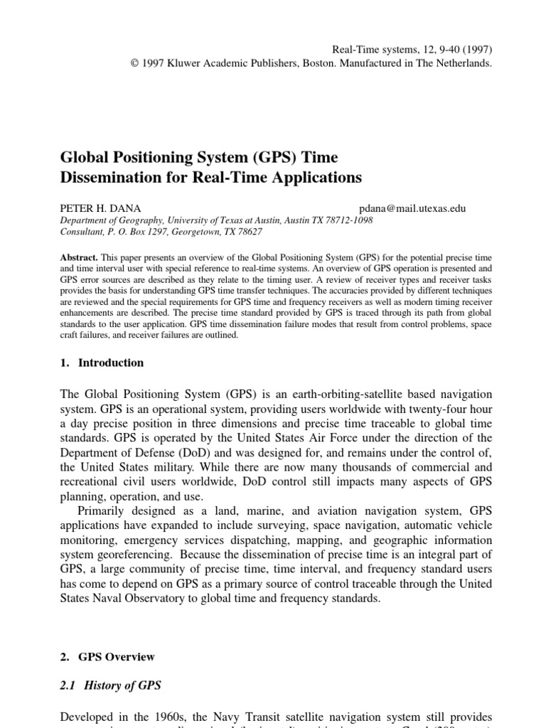 an overview of gps and its importance in military and civilian applications Control to provide for both military and civilian relativity and the global positioning system gps and relativity: an engineering overview.