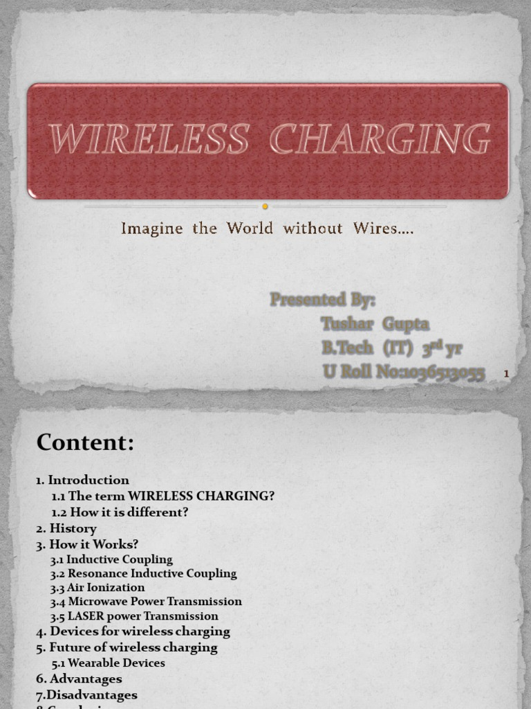 Wireless Charging - DocShare tips