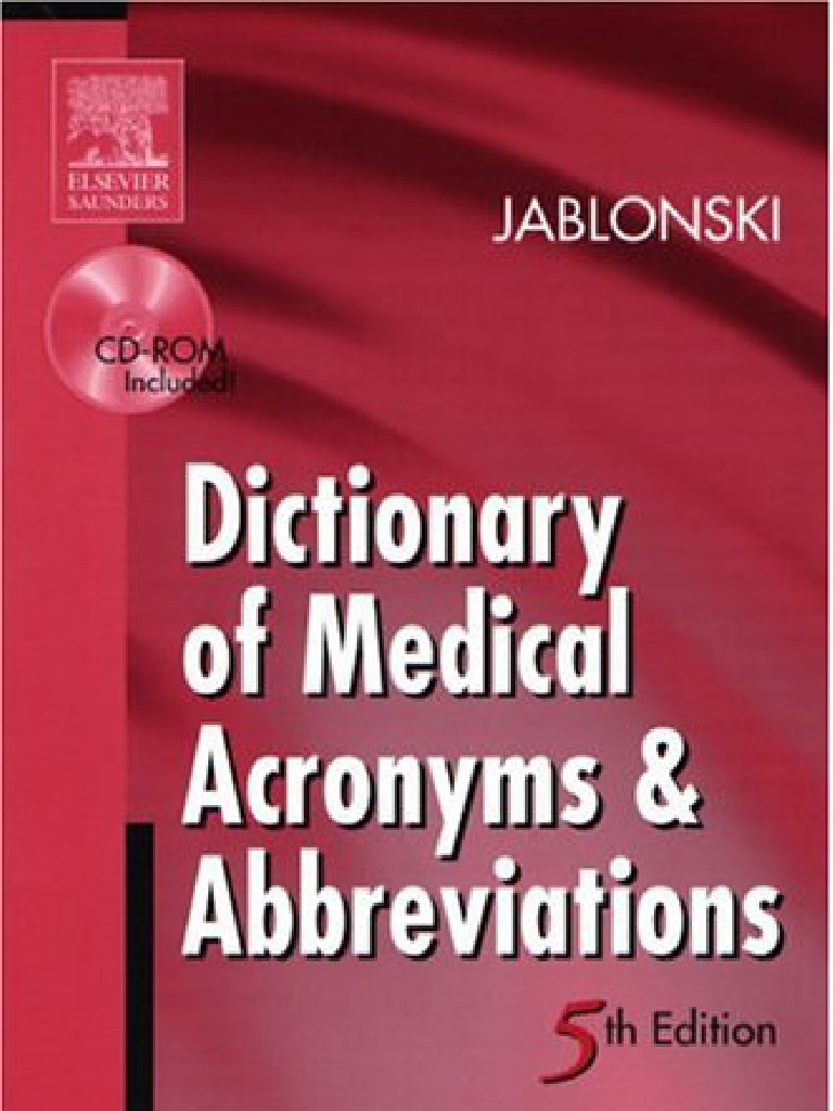 Dictionary Mecical Acronyms And Abbreviations