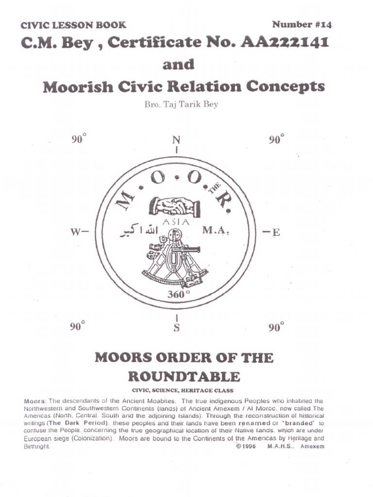 Moorish Civic Relation Concepts - LESSON BOOK _14[1] - DocShare tips