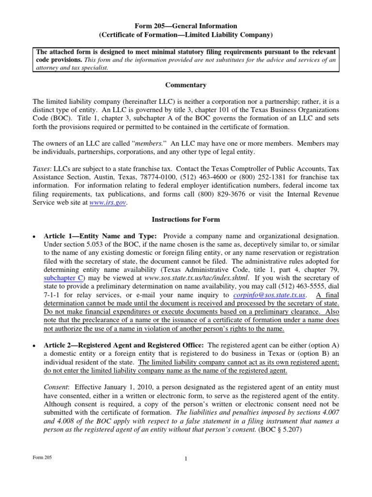 Download Texas Corporation Certificate Of Formation Docshare