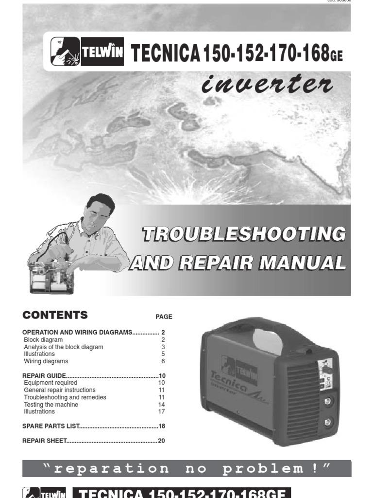 Telwin Tecnica 150 152 170 168ge Welding Inverter Sm Machine Block Diagram