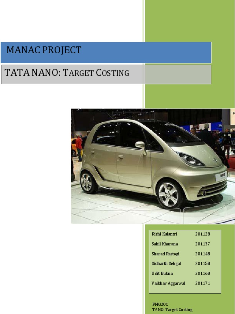 recommendations for marketing of tata nano To download revival of tata nano: can the world's cheapest car maintain the price of tata nano of the product management/ marketing communication.