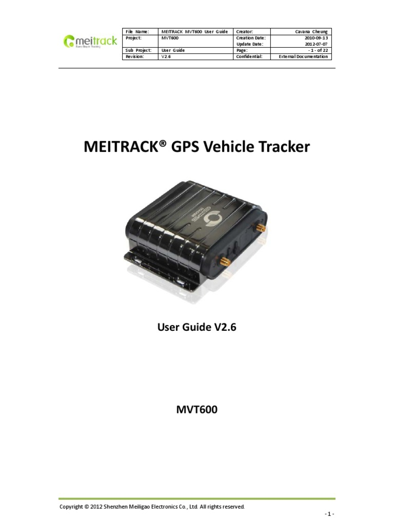 Download Meitrack t1 User Guide v1 8 - DocShare tips