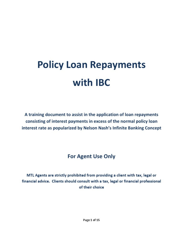 Ibc policy loan repayment options docshare thecheapjerseys Gallery