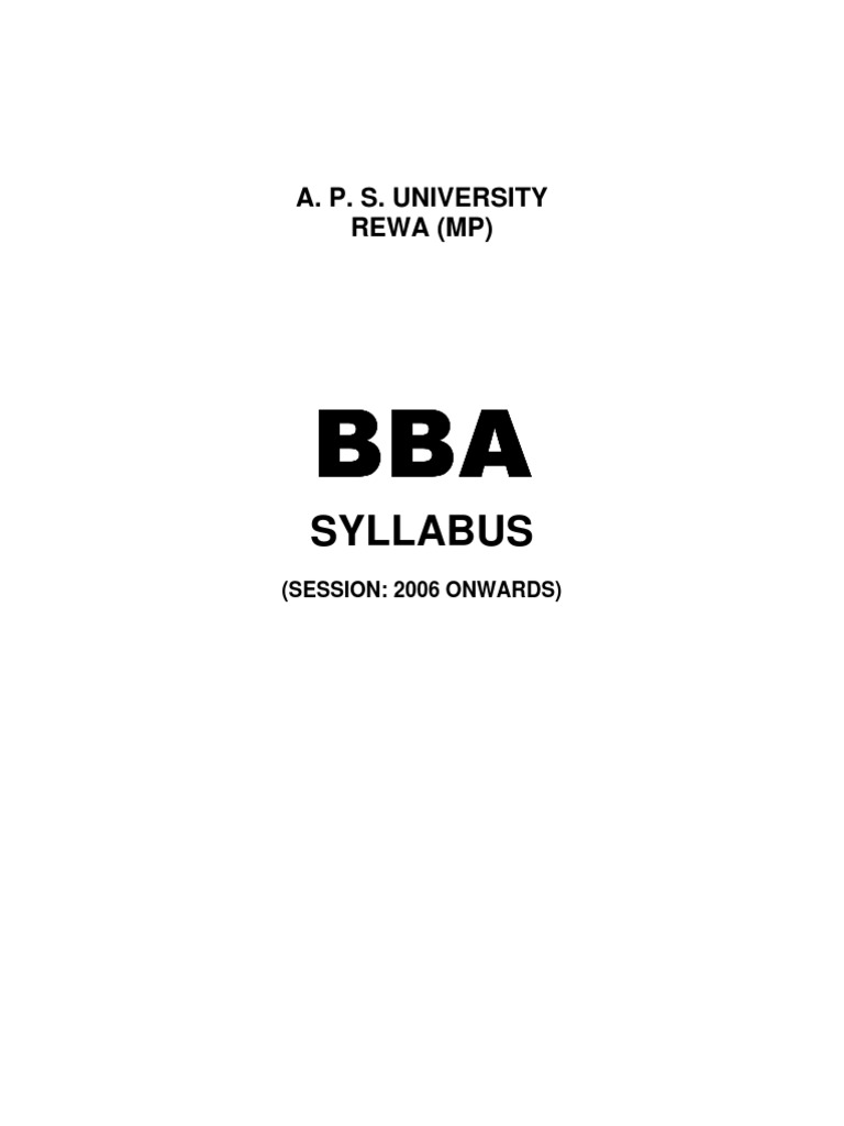bba sylabus
