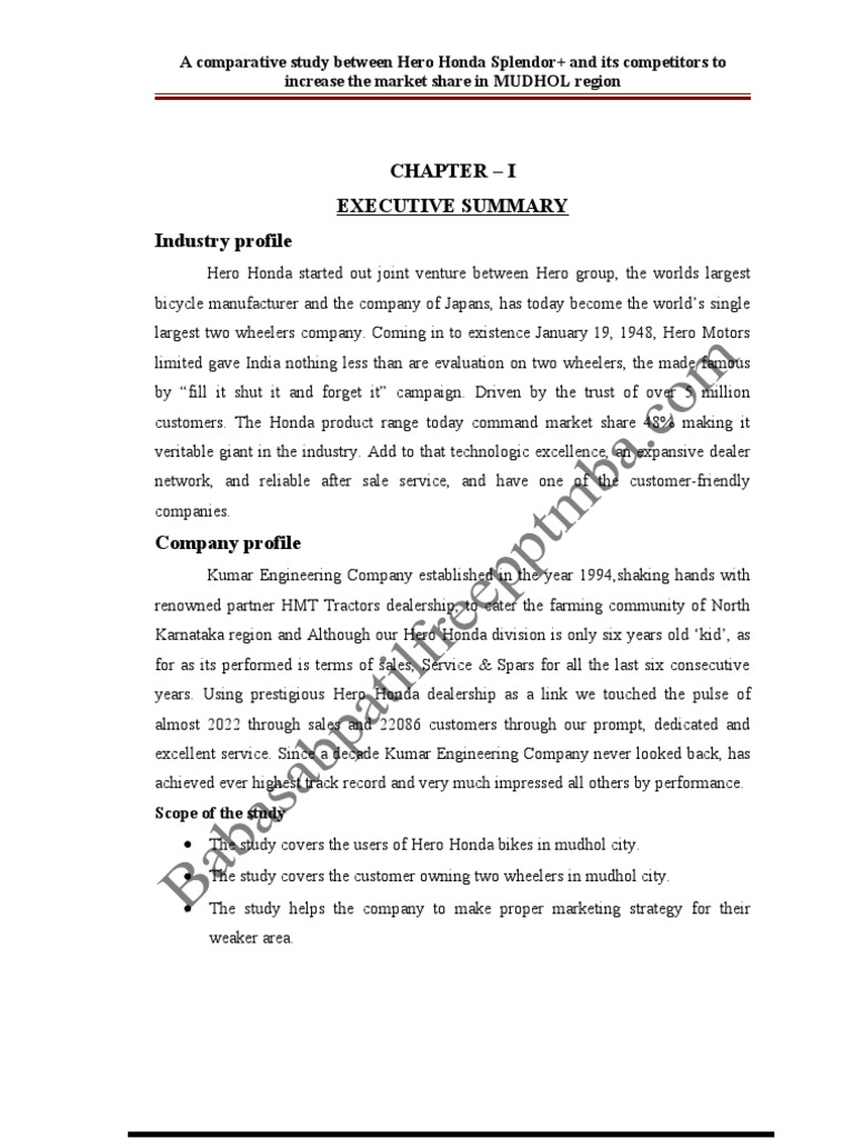 comparative study of customer satisfaction toward performance of hero honda tvs and bajaj bikes new Know the consumer awareness towards the bajaj products (electricals) 230 comparative  tvs fiero and hero honda  a study on customer satisfaction towards honda.