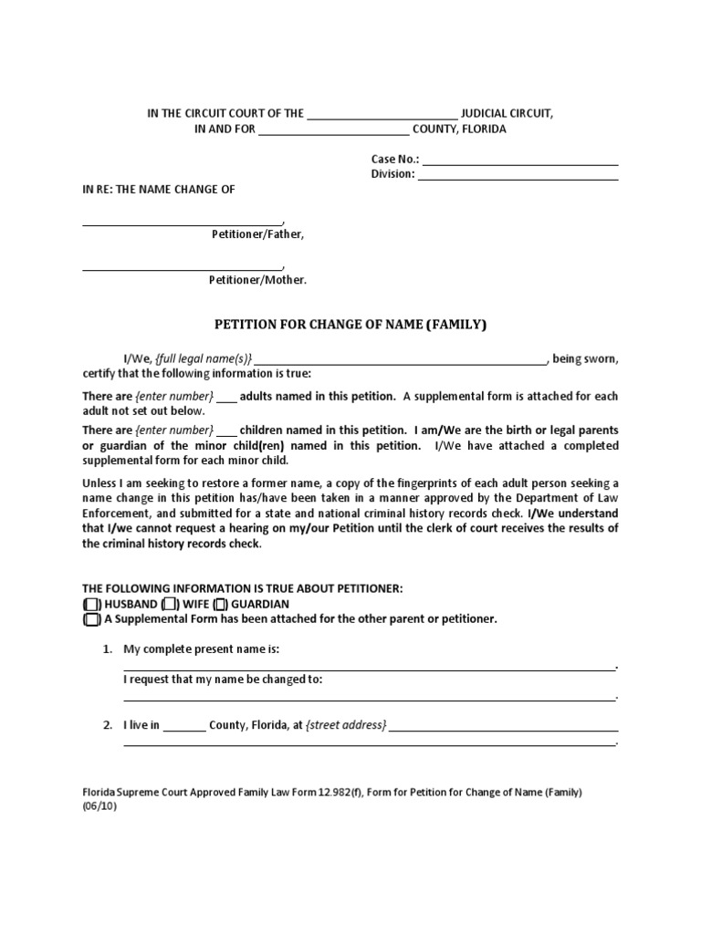 Georgia name change forms download