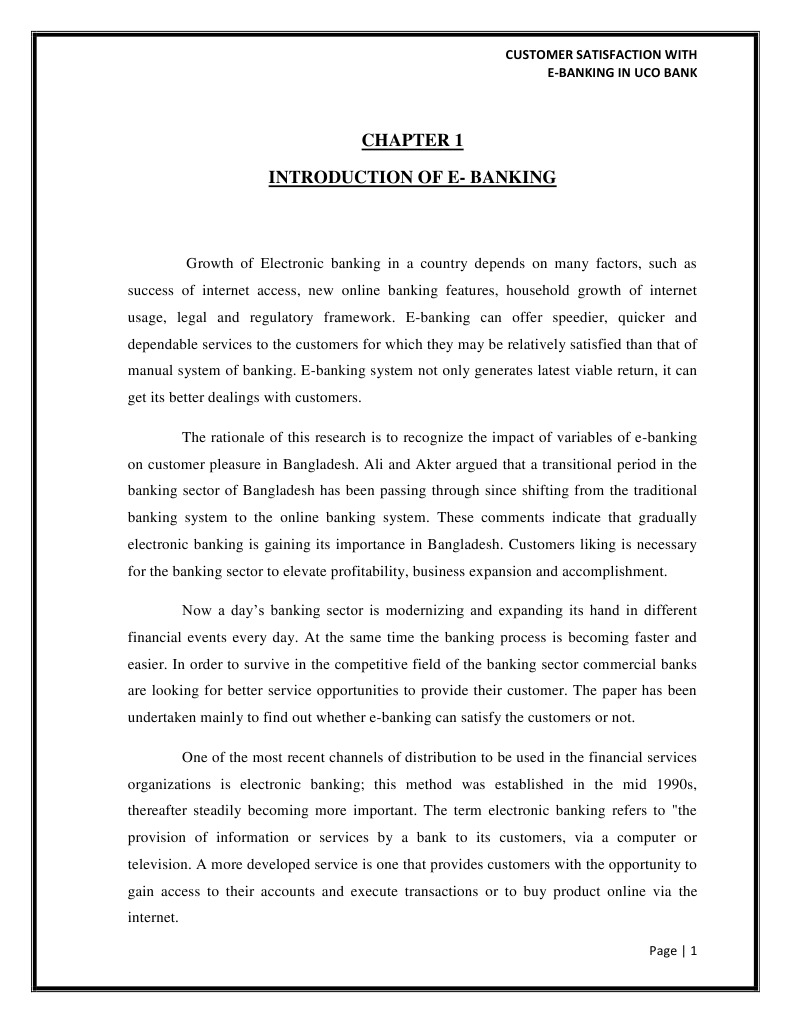 research paper on customer satisfaction in banks White paper – february 2005 employee satisfaction & customer satisfaction: is there a relationship by caterina c bulgarella, phd, guidestar research analyst.